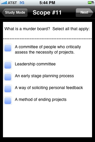 Murder Board Question